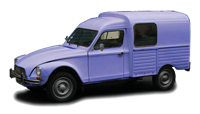 Citroen acadiane bleu céleste