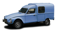 Citroen acadiane bleu uzes